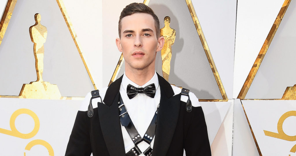 Olympian Adam Rippon brings S&M-inspired fashion to the Oscars in Moschino harness