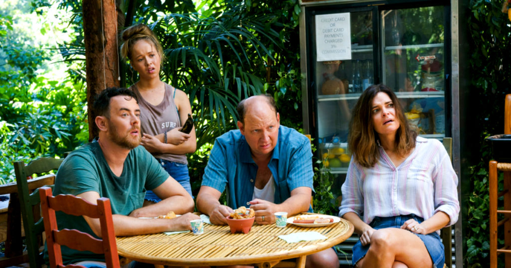 A tropical vacation turns batty in exclusive Life in Pieces season premiere sneak peek